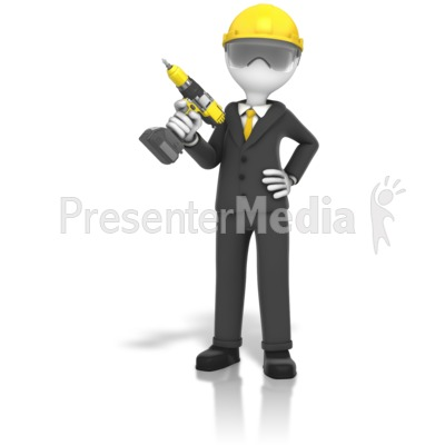 Construction Business Cordless Drill Presentation clipart