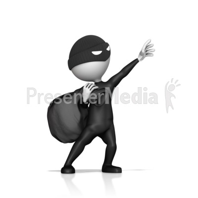 Thief Reaching Out To Steal Something Presentation clipart