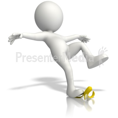 Slip On Banana Peel Presentation clipart