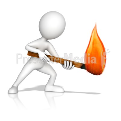 Figure With Matchstick Presentation clipart
