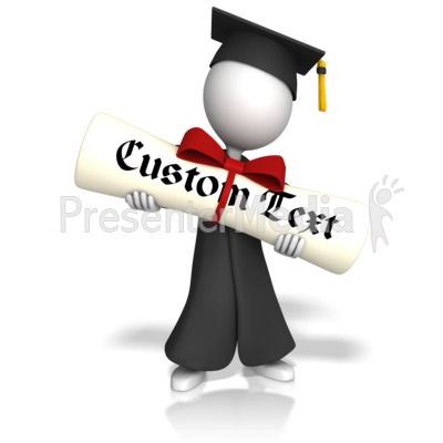 Graduate With Custom Diploma Presentation clipart