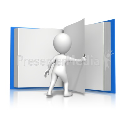 Figure Turning Page Book Presentation clipart