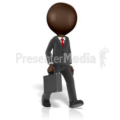 Business Figure Walking Presentation clipart