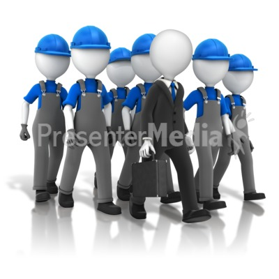Following The Boss Presentation clipart