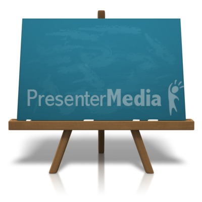 Classic Chalkboard Easel Presentation clipart