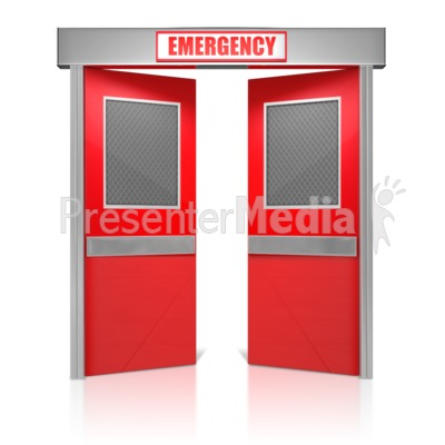 Emergency Doors Presentation clipart