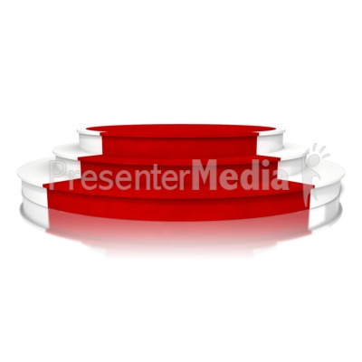 Triple Platform Red Carpet Presentation clipart
