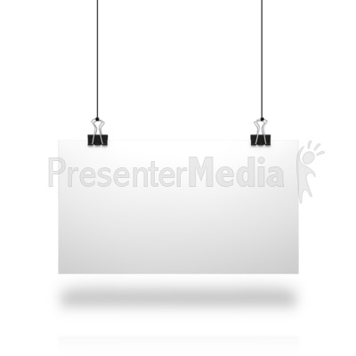 White Board String Presentation clipart
