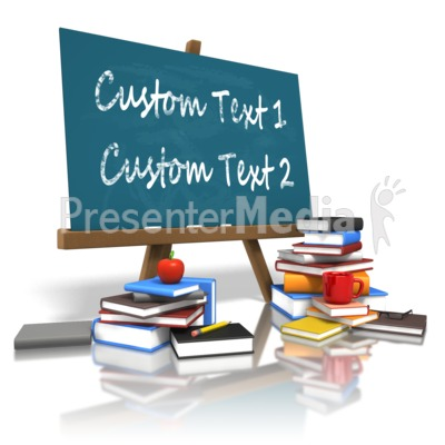 Custom Board Education Books Presentation clipart