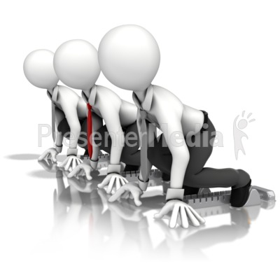 Business Men Race Presentation clipart