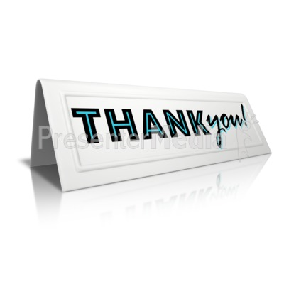 Beveled Card Thank You Presentation clipart