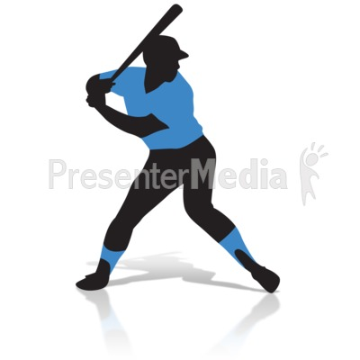 Baseball Player Silhouette Presentation clipart