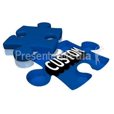 Text Under Puzzle Piece Presentation clipart