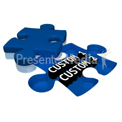 Custom Text Under Puzzle Piece Presentation clipart