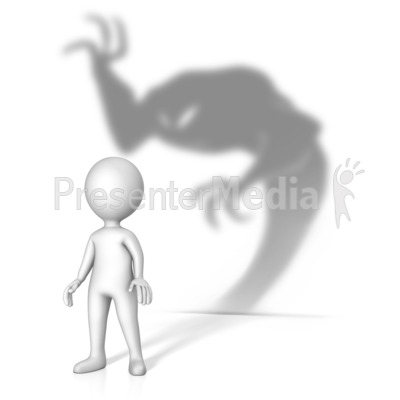 Theres A Demon About Presentation clipart