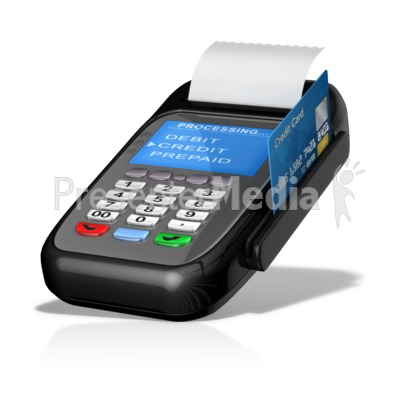Point Of Sale Machine Card Swipe Presentation clipart