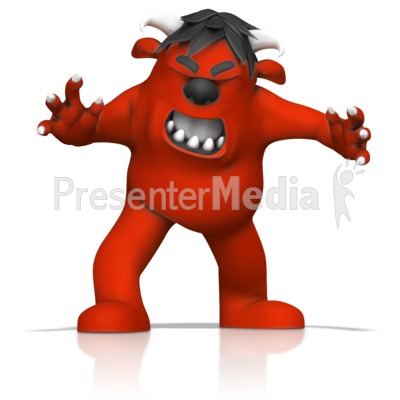 Angry Monster Presentation clipart
