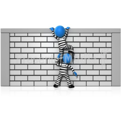 Prisoner Teamwork Escape Presentation clipart