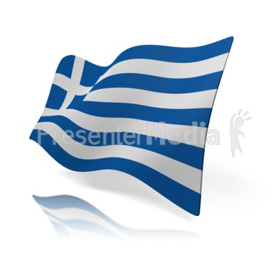 Greece Flag Presentation clipart