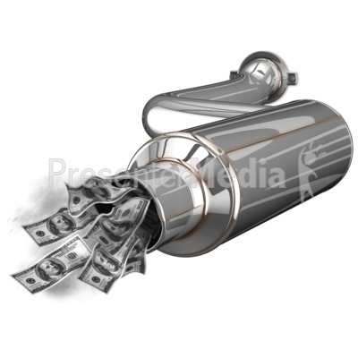 Exhaust Waste Money Presentation clipart