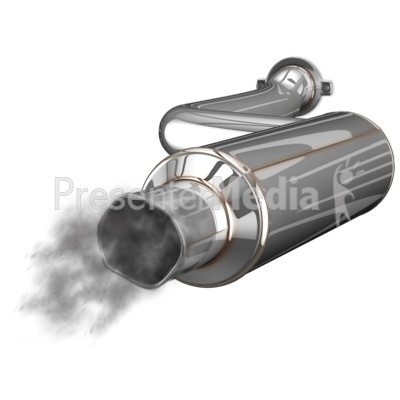 Exhaust Muffler Waste Presentation clipart