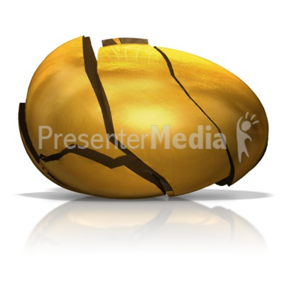 Broken Golden Egg Presentation clipart