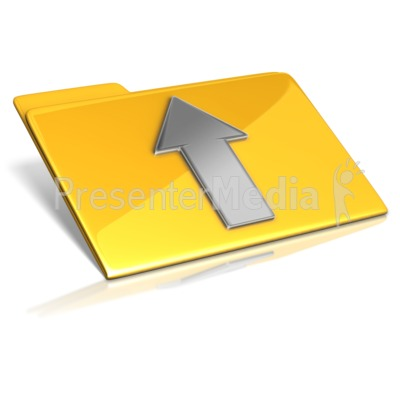 Upload To Folder Presentation clipart