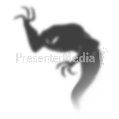 Dark Shadow Demon Presentation clipart