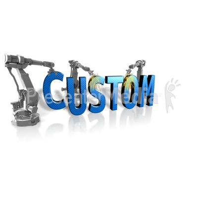 Robot Building Custom Text Presentation clipart