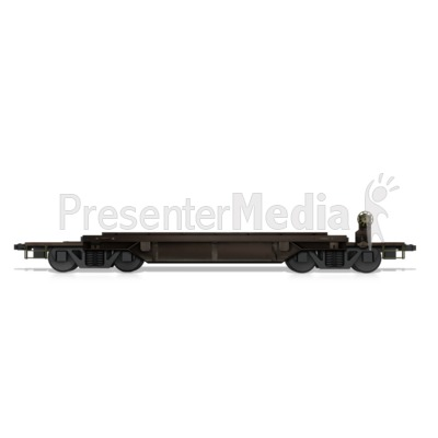 Flat Bed Rail Car Presentation clipart