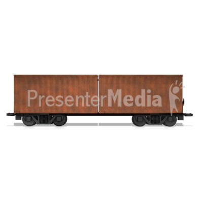 Split Box Car Presentation clipart