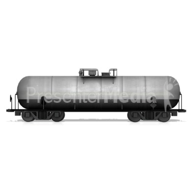 Tanker Rail Car Presentation clipart
