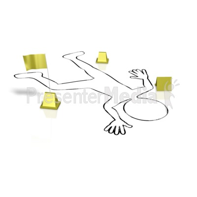Crime Victim Body Outline Presentation clipart