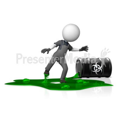 Figure in Toxic Spill Hazard Presentation clipart