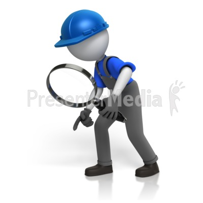 Construction Worker Searching Presentation clipart