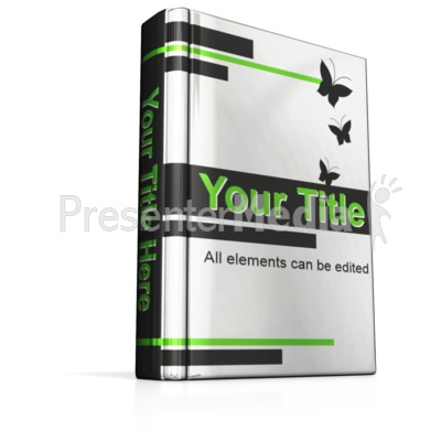 Custom Upright Book Presentation clipart