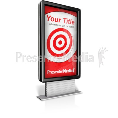Verticle Custom Advertisment Sign Presentation clipart