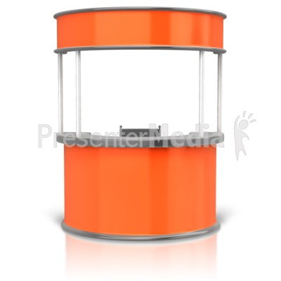 Circular Display Booth Presentation clipart