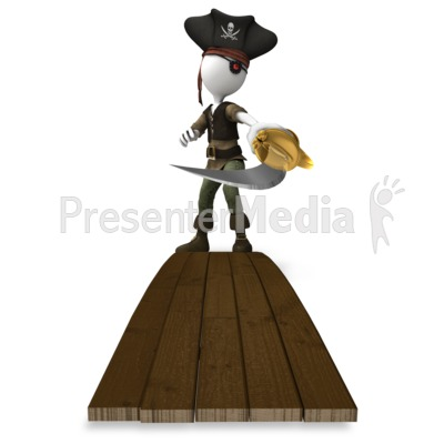 Pirate Sword Plank Presentation clipart
