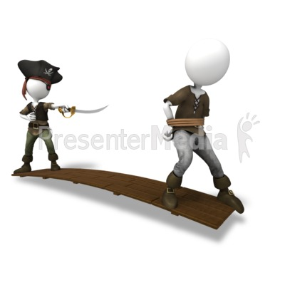 Pirate Walk The Plank Presentation clipart