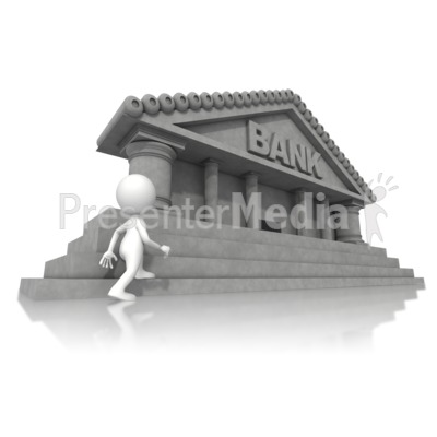 Walking Towards Bank Presentation clipart