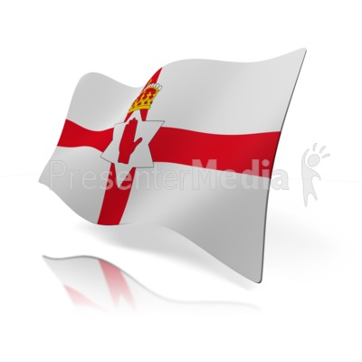 Northern Ireland Flag Presentation clipart