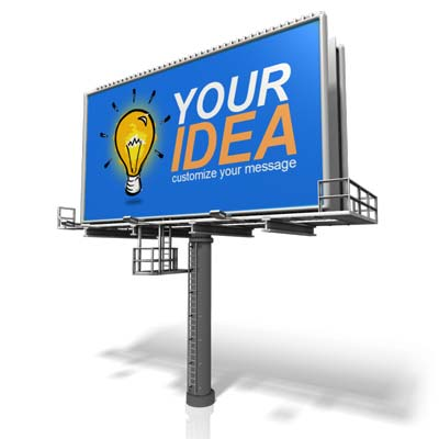 Custom Angled Billboard Presentation clipart