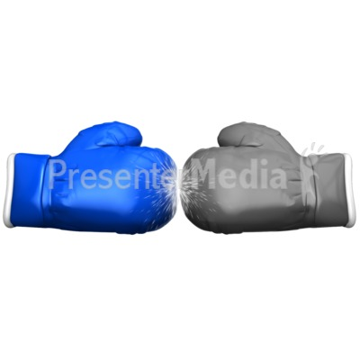 Boxing Glove Face Off Standout Presentation clipart