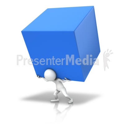 Carry The Cube Presentation clipart