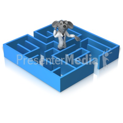 Lab Rat Stuck In Maze Presentation clipart
