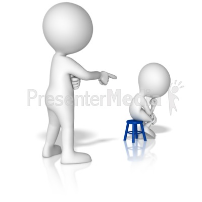Big Figure Put Little Figure In Corner Presentation clipart