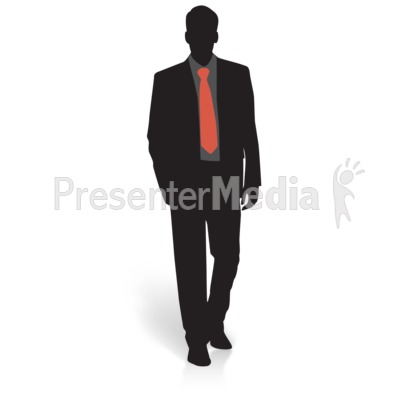Businessman Silhouette Basic Presentation clipart