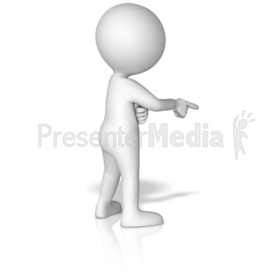 Figure Pointing Finger Presentation clipart