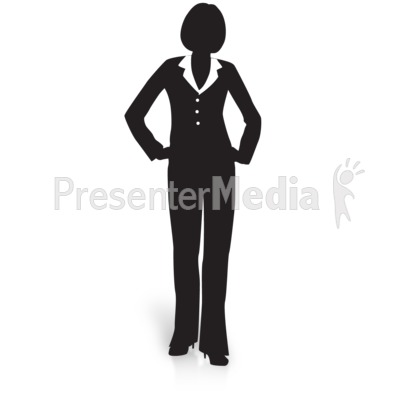 Businesswoman Silhouette Waiting Presentation clipart